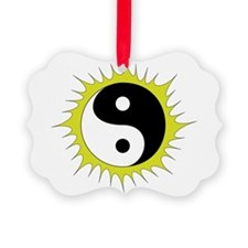 Yin Yang in front of the Sun - Ornament
