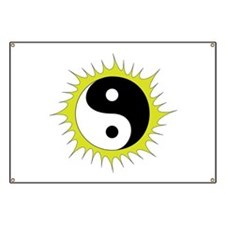 Yin Yang in front of the Sun - Banner