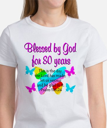 80TH PRAISE GOD Women's T-Shirt