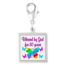 80TH PRAISE GOD Silver Square Charm