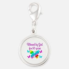 80TH PRAISE GOD Silver Round Charm