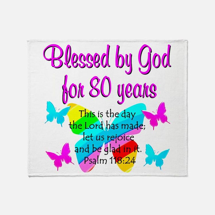 80TH PRAISE GOD Throw Blanket