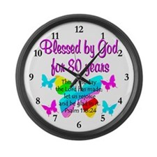 80TH PRAISE GOD Large Wall Clock