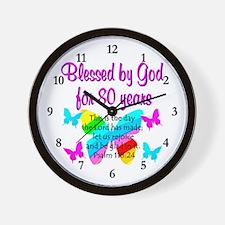 80TH PRAISE GOD Wall Clock