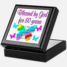 80TH PRAISE GOD Keepsake Box