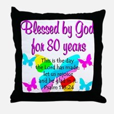 80TH PRAISE GOD Throw Pillow