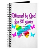 80 years blessed Journals & Spiral Notebooks