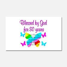 80TH PRAISE GOD Car Magnet 20 x 12