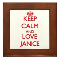 Keep Calm and Love Janice Framed Tile