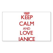 Keep Calm and Love Janice Decal