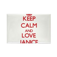 Keep Calm and Love Janice Magnets