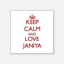 Keep Calm and Love Janiya Sticker