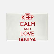 Keep Calm and Love Janiya Magnets