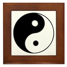 Classic Yin Yang - Framed Tile