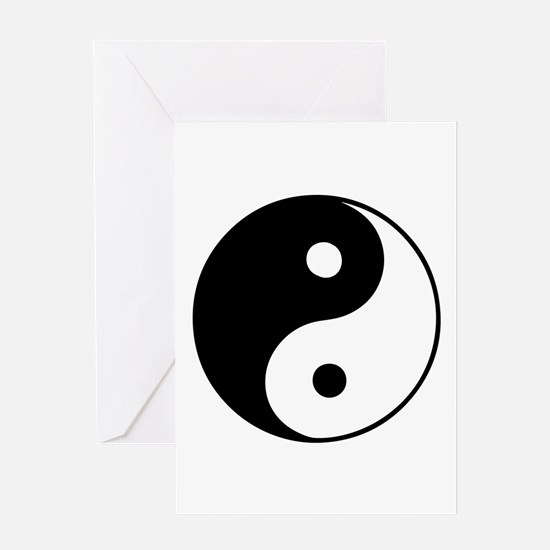 Classic Yin Yang - Greeting Card