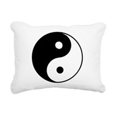 Classic Yin Yang - Rectangular Canvas Pillow
