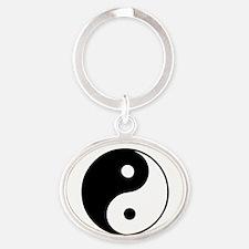 Classic Yin Yang - Oval Keychain