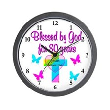 80TH LOVE GOD Wall Clock