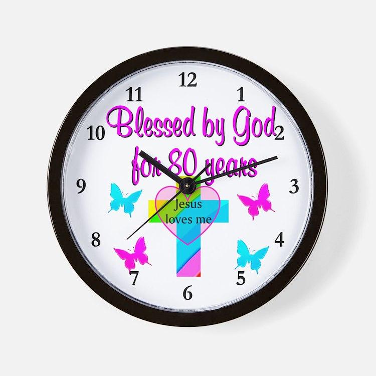 80TH LOVE GOD Wall Clock