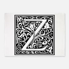 Decorative Letter Z 5'x7'Area Rug
