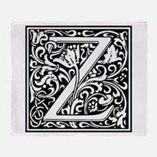 Decorative Letter Z Throw Blanket
