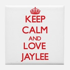 Keep Calm and Love Jaylee Tile Coaster
