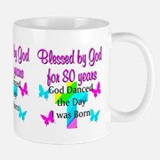 BLESSED 80 YR OLD Small Small Mug