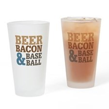 Beer Bacon Baseball Drinking Glass