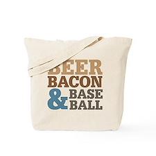 Beer Bacon Baseball Tote Bag