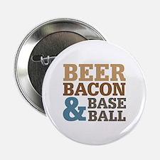 """Beer Bacon Baseball 2.25"""" Button"""