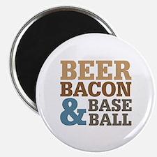 """Beer Bacon Baseball 2.25"""" Magnet (100 pack)"""