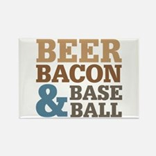 Beer Bacon Baseball Rectangle Magnet (10 pack)
