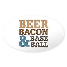 Beer Bacon Baseball Decal