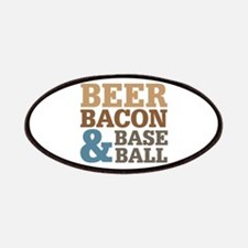 Beer Bacon Baseball Patches
