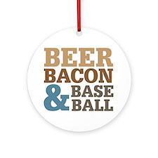 Beer Bacon Baseball Ornament (Round)