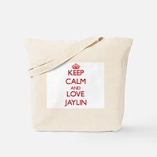 Keep Calm and Love Jaylin Tote Bag