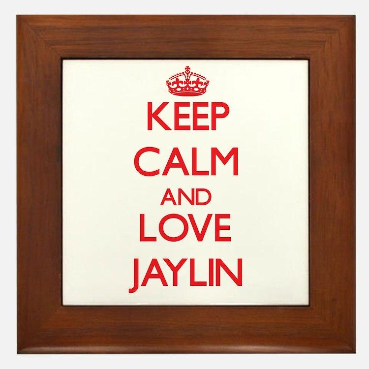 Keep Calm and Love Jaylin Framed Tile