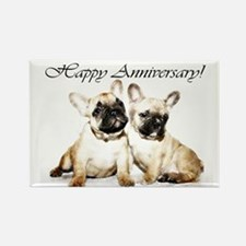 Happy Anniversary French Bulldogs Magnets