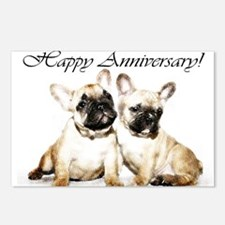 Happy Anniversary French Bulldogs Postcards (Packa