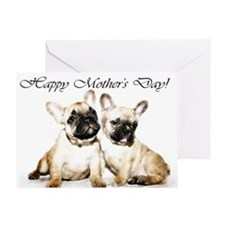 Happy Mothers Day French Bulldogs Greeting Cards