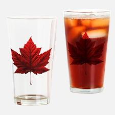 Canada Maple Leaf Souvenir Drinking Glass