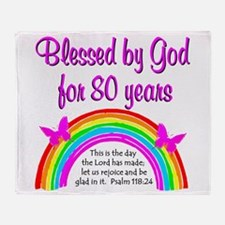 80TH LOVE JESUS Throw Blanket