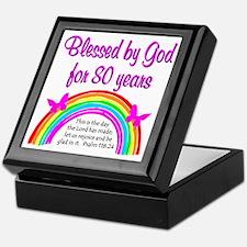 80TH LOVE JESUS Keepsake Box