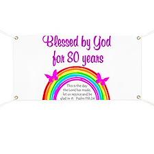 80TH LOVE JESUS Banner