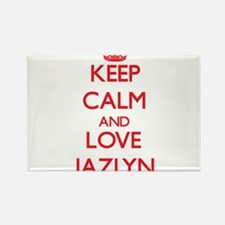 Keep Calm and Love Jazlyn Magnets
