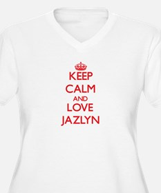 Keep Calm and Love Jazlyn Plus Size T-Shirt