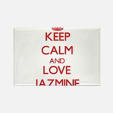 Keep Calm and Love Jazmine Magnets