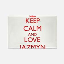 Keep Calm and Love Jazmyn Magnets