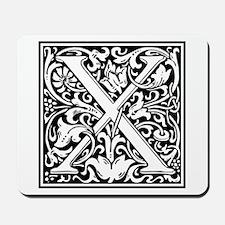 Decorative Letter X Mousepad