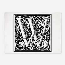 Decorative Letter W 5'x7'Area Rug